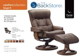 leather recliner chairs fjords 775 bergen ergonomic leather recliner chair ottoman