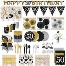 50th birthday party decorations 50th birthday party decorations black gold tableware plates cups