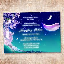 Engagement Party Invites Fairytale Blue And Purple Invitation Cards For Engagement Party