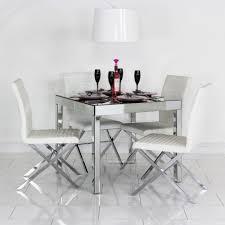arsenia mirrored dining room furniture set sophia mirrored dining