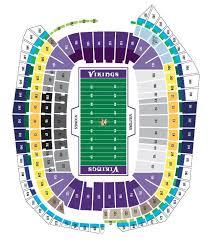map us bank stadium minnesota vikings seating chart at us bank stadium png