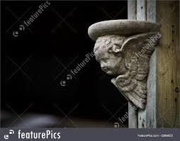 picture of cherub ornament with copy space