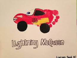 lightning mcqueen footprint art hand prints and footprints