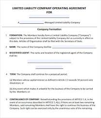 business operating agreement sample operating agreement template