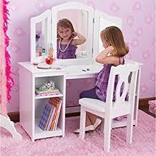 Toy Vanities Amazon Com Kidkraft Deluxe Vanity U0026 Chair Toy Kitchen U0026 Dining