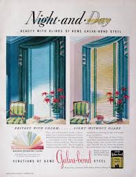 1948 acme galvabond steel venetian blinds advertising night