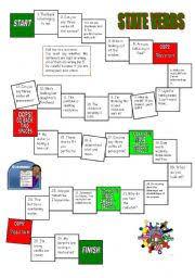 worksheet state verbs board game