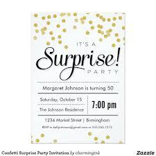 Stunning Appearance Surprise Party Invites Plumegiant Com
