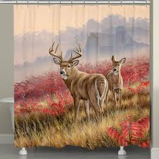 Deer Shower Curtains Deer Shower Curtain At Black Forest Decor