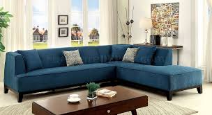 L Shaped Sectional Sofa With Chaise Sofia Ii Cm6861tl Sectional Sofa In Dark Teal Fabric