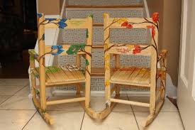 Ladybug Rocking Chair Sabine And Rumi U0027s Hand Painted Rocking Chairs U2014 Coffey Creations
