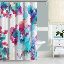 Turquoise Shower Curtains Watercolor Shower Curtain Turquoise Blue Pink