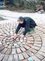 Circular Paver Patio How To Make A Circular Paved Area Give Your Garden With A