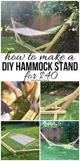 Diy Portable Hammock Stand Best 25 Wooden Hammock Stand Ideas On Pinterest Hammock Ideas