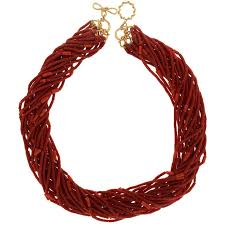beaded coral necklace images Valentin magro multi strands of sardinian red coral barrel shaped jpg