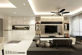 HDB Multifunctional Living In A Modern Style - Living room design singapore