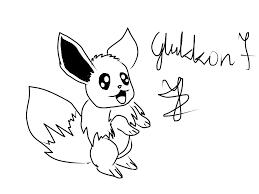pokemon kawaii eevee quick draw by glukkon7 on deviantart