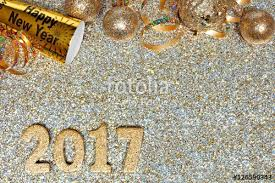 new years streamers new years corner border of confetti and decor isolated on a