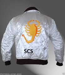 drive jacket replica satin drive ryan gosling scorpion replica jacket in parkas from