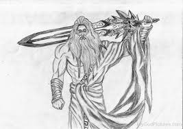 drawing of zeus god pictures