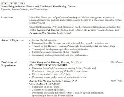 Chef Resume Objective Chef Resume Templates Corporate Head Chef Resume 61 Executive