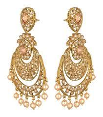 danglers earrings design earrings gold chand bali pearl dangler jyotsna bhatia