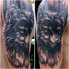 wolf cover up by devin zimmerman tattoos by devin