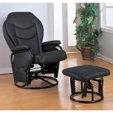 Recliner Chair With Ottoman Coaster Recliners With Ottomans Glider Rocker With Round Base