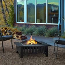 Fire Patio Table by Pleasant Hearth Fire Pits Outdoor Heating The Home Depot