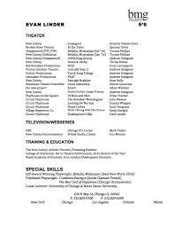 Best Acting Resume Font by Headshots Evan Linder