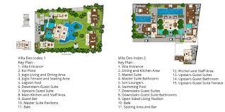 Five Bedroom Floor Plan Des Indes Villas Seminyak Bali Indonesia