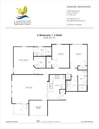 3 Bedroom Floor Plans by Wawasee 3 Bedroom Floor Plan Property Name