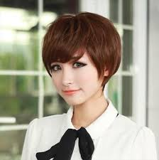 wigs short hairstyles round face asian hairstyles korean short everyday messy hairstyles with