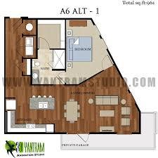 1bhk floor plan 2d 1bhk floor plan residential design yantram architectural design