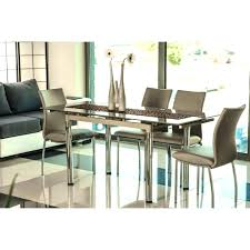 Glass Extendable Dining Table And 6 Chairs Beige Dining Room Set Iii Beige Glass Extendable Dining Table 6