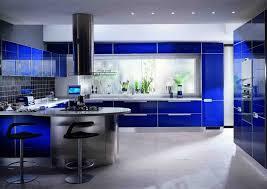 cuisine moderne design interieur inspiration cuisine moderne miniamliste bleu