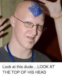 Dude Memes - look at this dudelook at the top of his head dude meme on me me