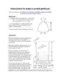 Upholstery Cording Instructions Corded Petticoat Instructions By Dana Gagnon Issuu