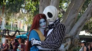 jack skellington and sally disneyland halloween 20