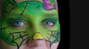 halloween hello kitty frankenstein u0027s monster face painting