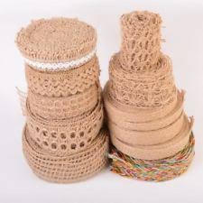 burlap ribbon burlap lot ribbons ribboncraft ebay