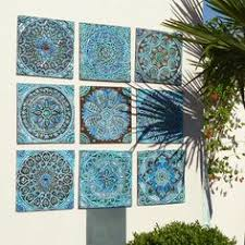 set of 6 decorative tiles made from ceramic 30 x 30cm glazed in