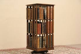 revolving bookcase plans