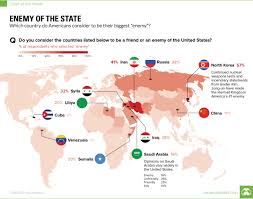Where Is Usa In World Map by Infographic Which Country Is America U0027s Biggest Enemy