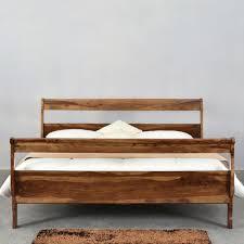 solid wood platform bed frame for classy bed marku home design