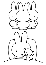 miffy coloring pages getcoloringpages com
