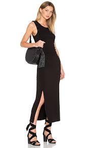 Heather Shirred Midi Tank Dress In Black Revolve