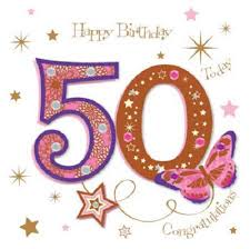 50th birthday cards happy 50th birthday greeting card by talking pictures cards