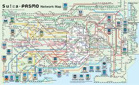 Disney Monorail Map Pasmo Map Suica Pasmo Network Map Kantō Japan