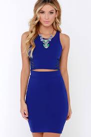 blue bodycon dress royal blue two dress bodycon dress sleeveless dress 54 00